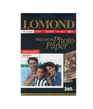 Фотобумага Lomond Semi-Glossy 260/10*15/20 одн. 1103302