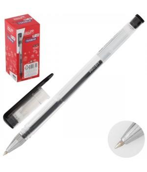 Ручка гел 0,5 прозр корп РГ-6834 черн к/к