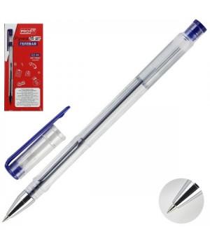 Ручка гел 0,5 прозр корп РГ-6832 син к/к