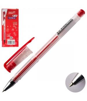 Ручка гел 0,5 прозр корп РГ-6838 красн к/к