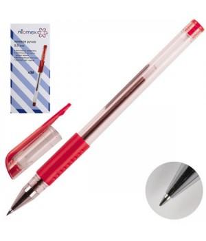 Ручка гел 0,5 прозр корп резин манжет Attomex 5051308 красн к/к