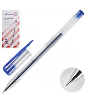 Ручка гел 0,5 прозр корп Attomex 5051347 син к/к