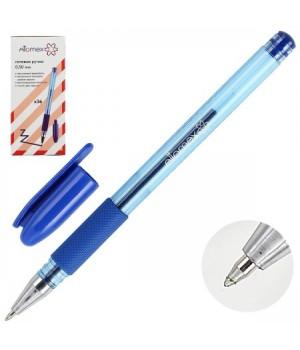 Ручка гел 0,5 тонир корп резин манжет Attomex 5051345 син к/к