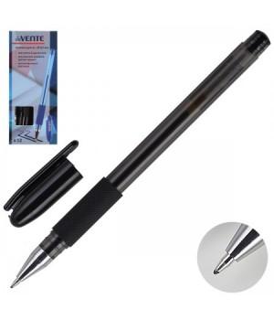 Ручка гел 0,5 тонир корп резин манжет deVENTE 5051346 черн к/к