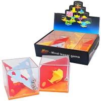 Головоломка 3D Mini- mind teaser game балансировочная со стальными шариками 12 дизайнов, пластик, картонная упаковка 19*14*5см