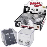 Головоломка Balance game балансировочная со стальными шариками 12 дизайнов, пластик, картонная упаковка 15,5*12*3,5см