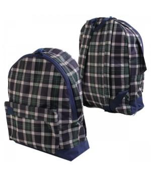 * Рюкзак полиэстер 1отд 33*41*16 Grizzly RU-600-1 клетка син зелен