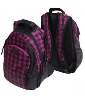 Рюкзак нейлон 2отд эргоном 28*35*18 Grizzly RD-640-1 черн/фиол