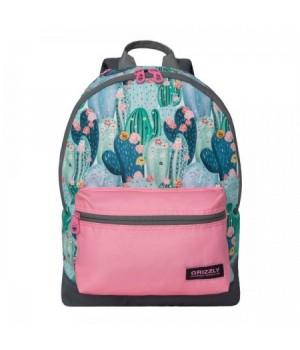 Рюкзак полиэстер 1отд 28*40*12 Grizzly RX-940-6 цветущие кактусы