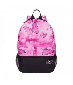 Рюкзак полиэстер 1отд 29*41*18 Grizzly RX-941-2 бабочки розовые