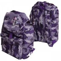 * Рюкзак полиэстер 1отд 30*40*18 Grizzly RD-646-2 принт фиолетовый камуфляж