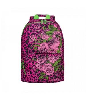 Рюкзак полиэстер 1отд 28*40*14 Grizzly RD-830-1 принт леопард/фуксия