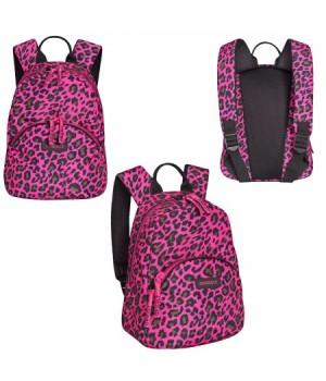 * Рюкзак полиэстер 1отд 25*31*16 Grizzly RS-756-5 леопард фуксия