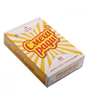 Игра карточная Рыжий кот Смеха ради Желтый сборник, состав: 54 карточки, инструкция, картонная упаковка 9*6*2см