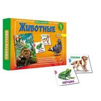 Игра развивающая Рыжий кот Школа малыша Животные, состав: 8 карточек, инструкция, картонная упаковка 33,5*22,5*3,5см, от 3лет