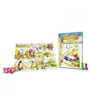 Игра ходилка Рыжий кот Кот в сапогах, состав набора: игровое поле 42*28,5 см, 4 фишки, кубик, инструкция