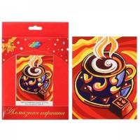 Мозаика Картина алмазная по номерам 17*21см полн выклад Кофейный аромат МР011 на картоне