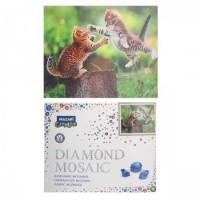* Мозаика Картина алмазная по номерам 40*50см полн выклад КОТИКИ М-10148 с подрамн