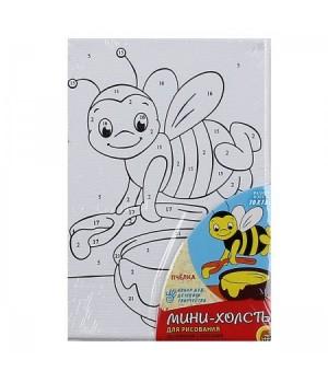 Раскраска по номерам на холсте 10*15 Пчелка Х-8286