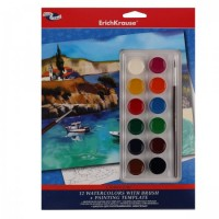 Набор для рисования акварелью 12цв 21*27см Морской пейзаж ЕК 39153