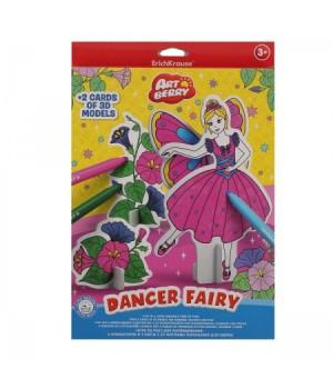 * Набор для рисования фломастерами 6цв 20*30см Dancer Fairy 3D Artberry ЕК 37306