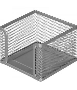 Подставка для блок-кубиков Attache (металическая сетка, 105x105x78 мм, серебро)