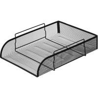 Лоток для бумаг горизонтальный Attache (надстраиваемый, металлическая сетка, высота 83 мм, черный)