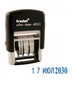 Датер 22*4мм месяц буквами TRODAT 4820