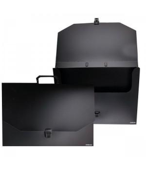 Папка-портфолио пластик на замке А3 (310*440*35мм) 1отд Classic ЕК 42994 руч черн