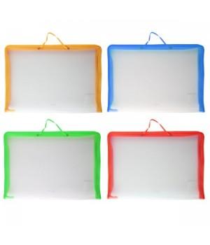 Папка-портфолио пластик на молн вокруг А3 (320*460*20мм) 1отд Zip Folder ЕК 34829 руч ассорти