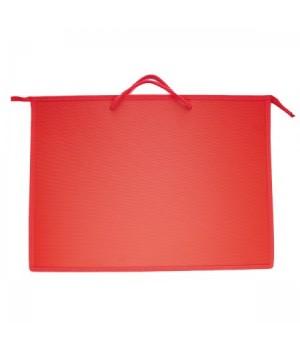 Папка д/художника пластик на молн сверху А3 (345*465*50мм) 1отд Красный ПР 3 2170 руч