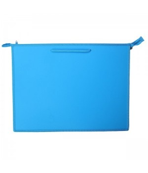 Папка д/художника пластик на молн сверху А3 (345*465*50мм) 1отд Ярко-голубой ПР 3 10062 руч