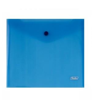 Папка-конверт на кноп А5 (215*240мм) 0,18мм синяя AKk_15102 прозр