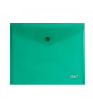 Папка-конверт на кноп А5 (215*240мм) 0,18мм зеленая AKk_15104 прозр