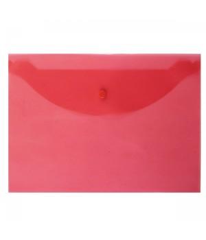 Папка-конверт на кноп А4 (240*330мм) 0,12мм Attomex 3071818 прозр красн