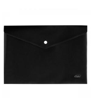 Папка-конверт на кноп А4 (230*330мм) 0,18мм Черная AKk4_00001