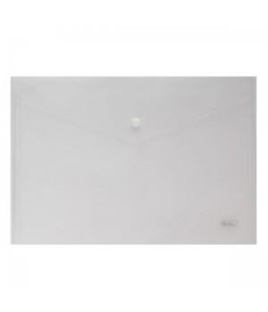 Папка-конверт на кноп А4 (235*330мм) 0,18мм прозр AKk4_00000