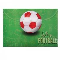 Папка-конверт на кноп А4 (230*320мм) 0,15мм Футбол 183483/1 КОКОС