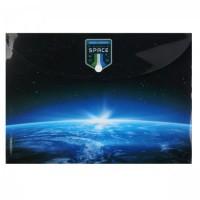 Папка-конверт на кноп А4 (230*320мм) 0,15мм Космос 183487/1 КОКОС