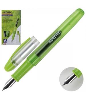 Ручка перо deVENTE М(Medium ) тонир корпус зел + картридж 0,8 мл 5100706 син