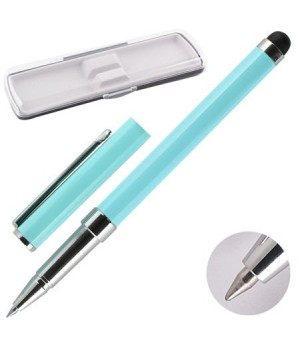 * Ручка-стилус роллер подар колпачок корп хром бирюз Y462_3_1/170382/Y465_4 син НИКА пласт/футляр