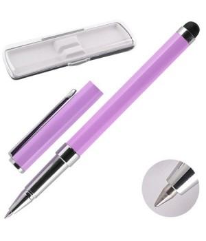 * Ручка-стилус роллер подар колпачок корп хром фиолет Y462_3_3/170382/Y465_4 син НИКА пласт/футляр