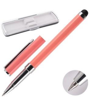 * Ручка-стилус роллер подар колпачок корп хром роз Y462_3/170382/Y465_4 син НИКА пласт/футляр