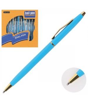 Ручка шар подар поворот мех корп зол голуб 170625/309/2 КОКОС син карт/уп