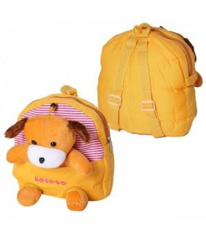 Рюкзак дет ткань 1отд 24*26*7 Собачка 17144 КОКОС желтый