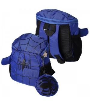 Рюкзак дет ткань 1отд 20*20*10 Паутина поводок, кошелек 183244/1744 КОКОС синий