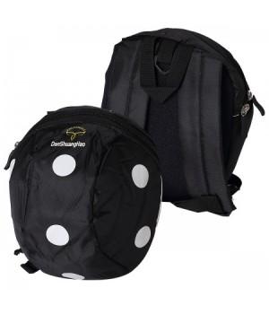 * Рюкзак дет ткань 1отд 20*22*10 Точки поводок 183247/822 КОКОС черный