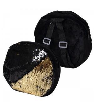 Рюкзак дет ткань 1отд 22*22*4 Пайетки 185503 КОКОС черный