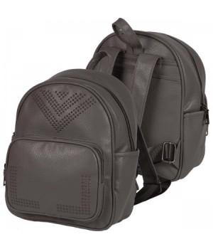 Рюкзак к/з 1отд 22*28*10 deVENTE 7032971 т. серый
