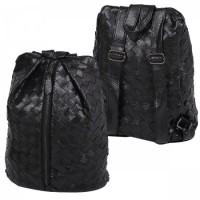 Рюкзак к/з 1отд 24*36*14 Сплетение 180879 КОКОС черный